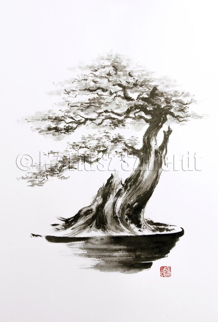 Bonsai Tree Art Painting Flowers paintings gallery