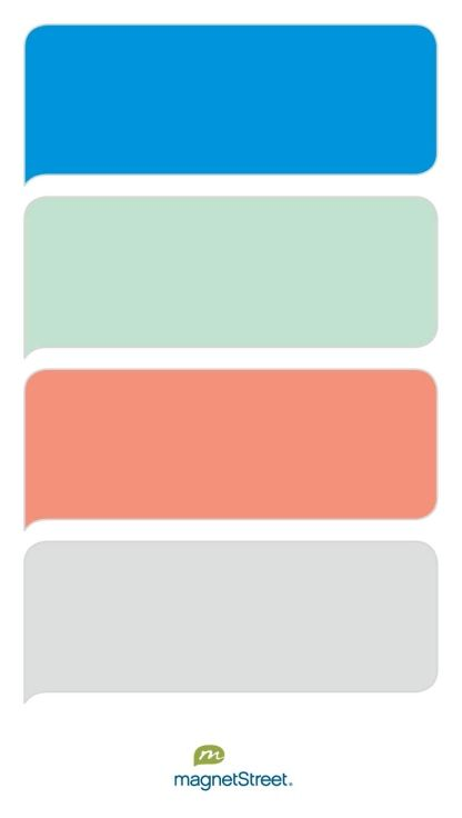 Cornflower, Celadon, Coral, and Silver Wedding Color Palette - custom color palette created at MagnetStreet.com
