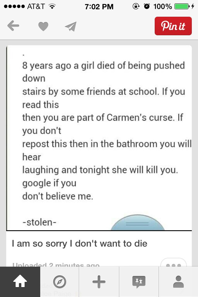 I am only repinning to say that those people arent friends or even godd people.the girl didnt deserve to know these peopke as they are horrible to all peopke reading this dont repin so you dont die.repin for the girl that died coz of cruel people in the world