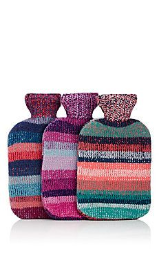 Cashmere Cozy-Covered Hot Water Bottle Set