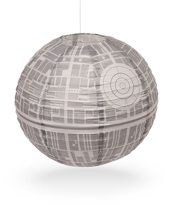 Star Wars Crafts: Death Star Paper Lantern. This is seriously legit the coolest thing ever. My room has gained infinite cool points since it's been hanging there.