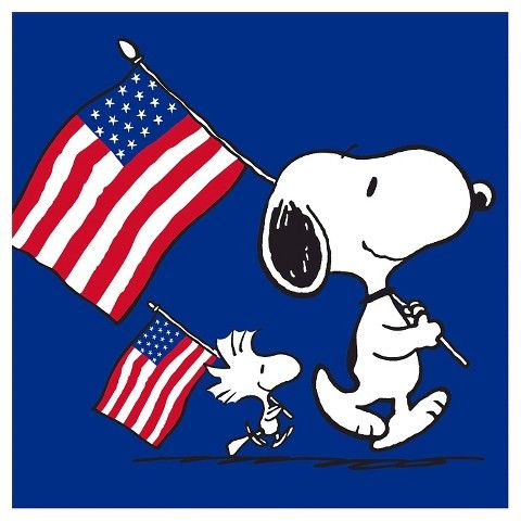 Peanuts Americana Snoopy Red, White, and Blue 18ct Snack Napkin