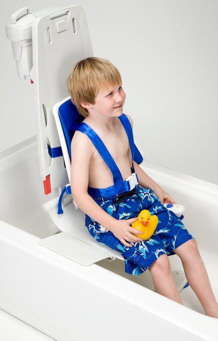 Aqualift Bath Lift With Pediatric Hi Back Wrap Around