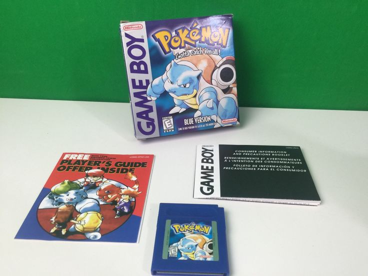 Nintendo Game Boy Pokemon Blue Version Game in Original Box GB GBC Color: $64.99 End Date: Saturday Feb-3-2018 21:12:24 PST Buy It Now for…