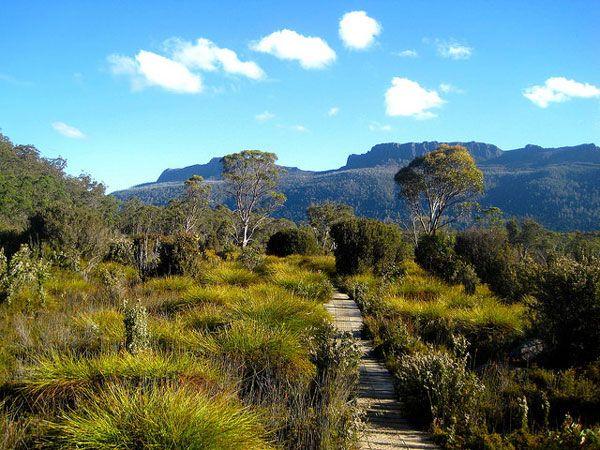 L'Overland Track en Tasmanie, AustralieOverland Track (Australie) Où : Tasmanie. Durée : 5-6 jours. Qu'y voit-on : Le superbe Parc national de Cradle Mountain et le Lac Saint-Clair, le lac d'eau douce naturel le plus profond d'Australie ! Période idéale : De novembre à avril. A savoir : Aujourd'hui, un nombre limité de randonneurs est accepté sur le site durant la haute saison (1er novembre-30 avril). Le droit d'entrée coûte 180$ et la traversée du parc ne peut se faire que du nord au sud…