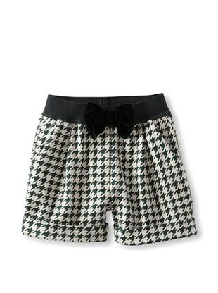 48% OFF Monnalisa Girl's Houndstooth Short (Green Ecru)