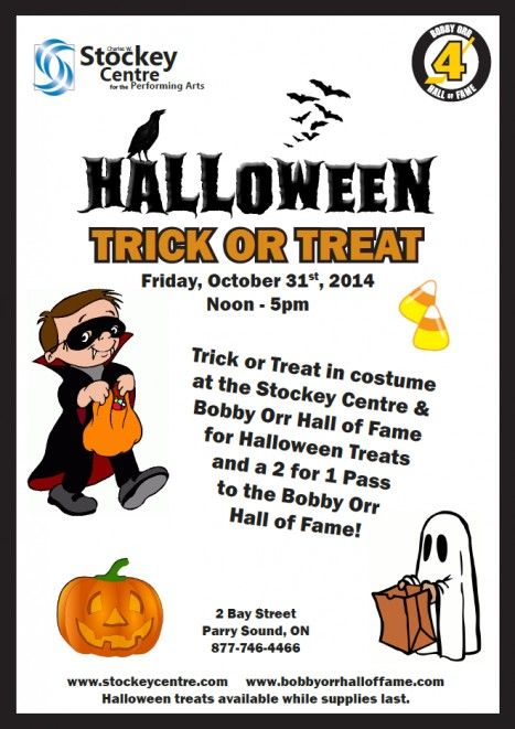 Halloween Trick or Treat - October 31st, 2014 - Charles W. Stockey Centre for the Performing Arts, Parry Sound, Ontario