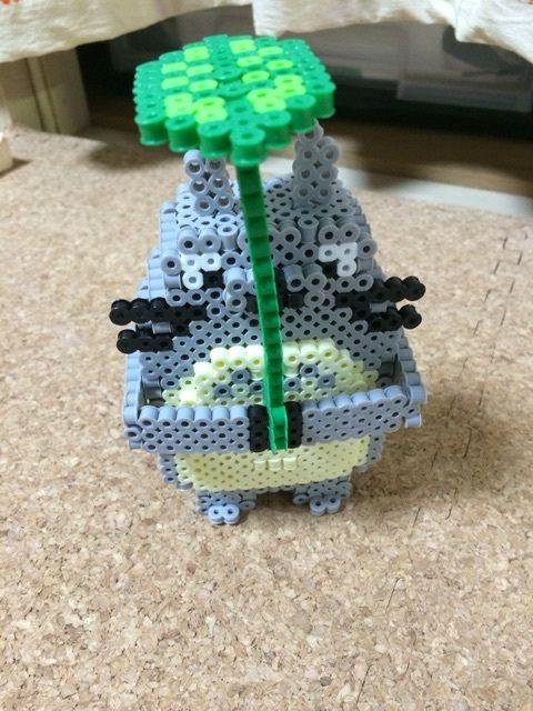 3D Totoro perler beads