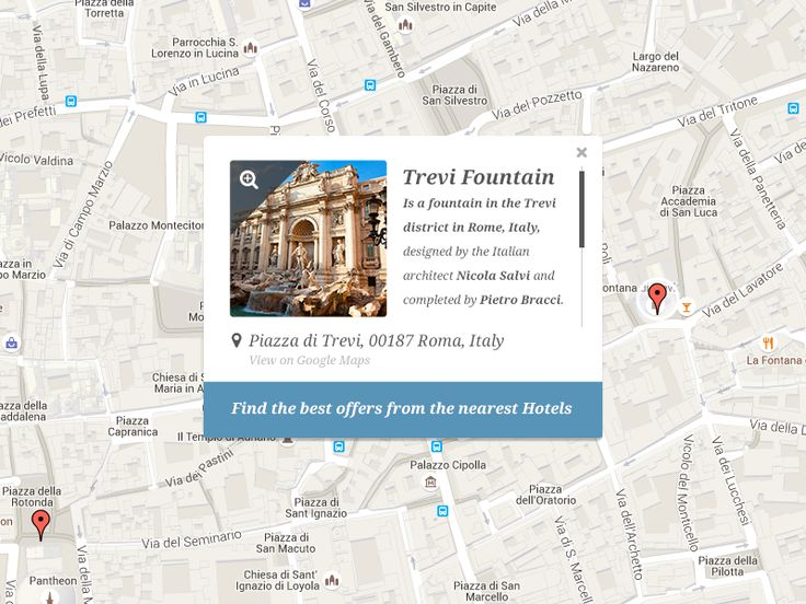 Google Maps UI by Emiliano Cicero