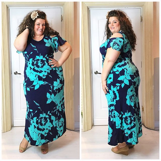 "The Athena Cold Shoulder Plus Size Maxi Dress, sizes 1X to 3X, $89 CAD  www.sexyplusclothing.com / Worldwide Shipping!  FREE SHIPPING on orders over $100 to Canada and USA!  Boutique: @sexyplus 5100 Maingate Drive, Unit 14, Mississauga, Ontario L4W 1X6  Model @ambertailors 5'10"" wearing 2X  .  .  .  #sexyplus #plussize #respectmycurves #plussizefashionista #daretowear #curvygirls #embraceyourcurves #confidence"