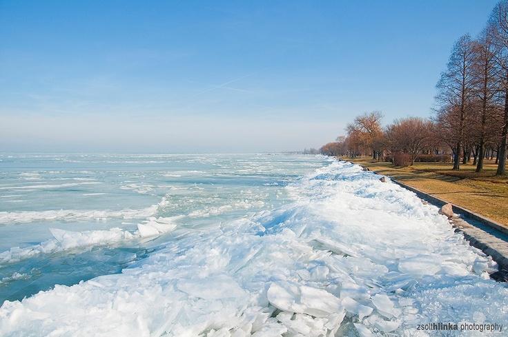Frozen Lake Balaton #Hungary