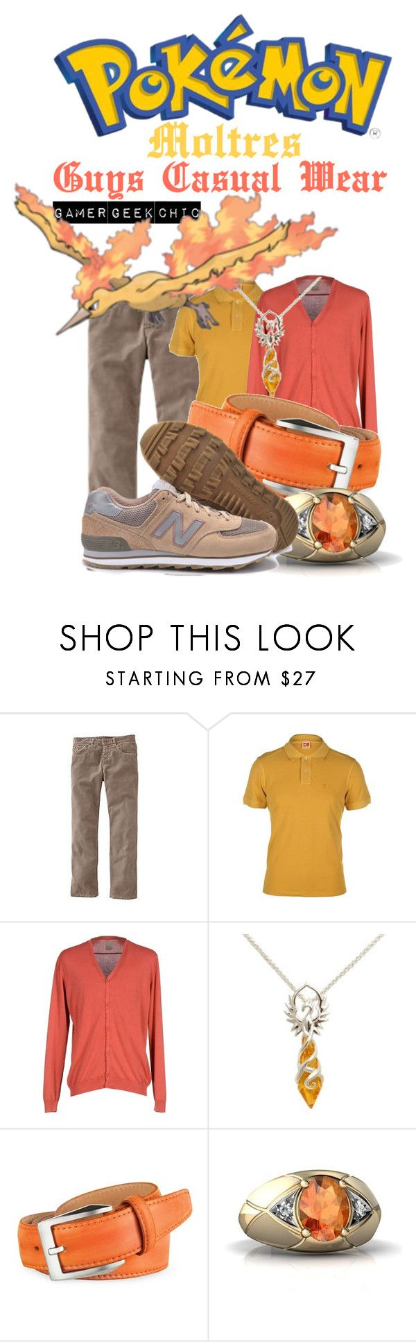 """Pokémon - Moltres"" by gamer-geek-chic ❤ liked on Polyvore featuring Boden, BOSS Orange, KAOS, pakerson and New Balance"