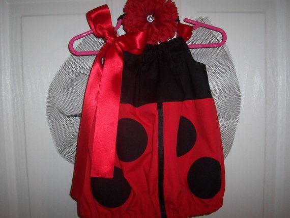 Ladybug Halloween Costume Infant Baby Toddler Red by RaDzaeDezynes, $20.75