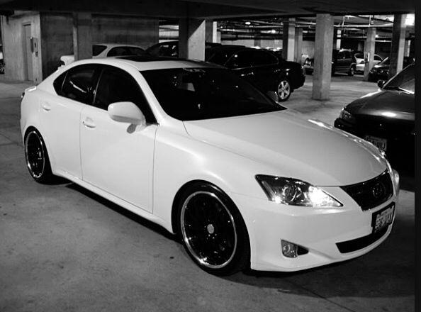 White Lexus IS 250 black rims