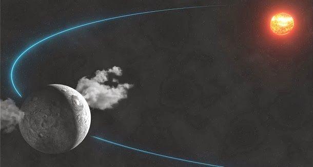 Os astrónomos descobriram evidências diretas de água no planeta anão Ceres, oriundas de géiseres de gelo à superfície.