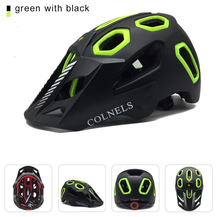 28.99$  Buy now - http://alikal.shopchina.info/1/go.php?t=32749435713 - Mountain bike helmet men's road bicycle helmet size 58-62cm COLNELS brand new 2017 with a peak of the matte black helmet bike he  #aliexpresschina