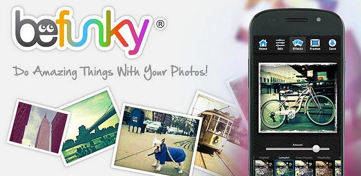 Android app.  Fun photo editor