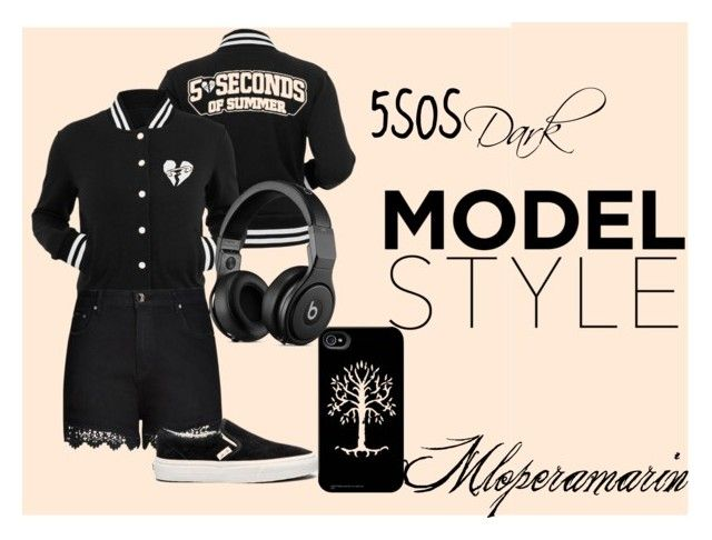 """5sos Dark"" by mloperamarin on Polyvore featuring Belleza, City Chic y Vans"