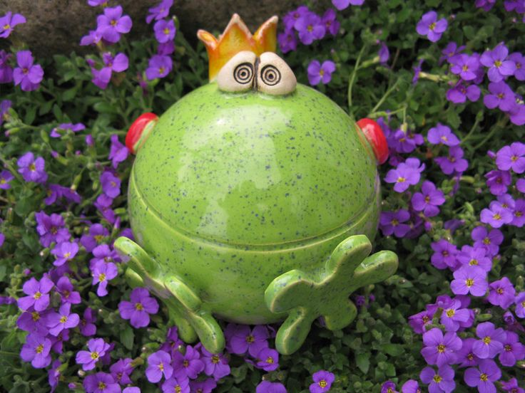 Gartenkugeln & -stelen - ROSENKUGEL Frosch ❤Frooosch❤ - ein Designerstück von FischerKunterbunt bei DaWanda