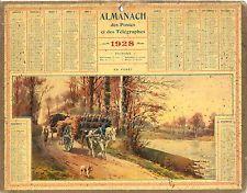 CALENDRIER ALMANACH des  PTT - 1928 - en Forêt
