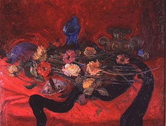 Mario Mafai Natura morta con fiori 1942