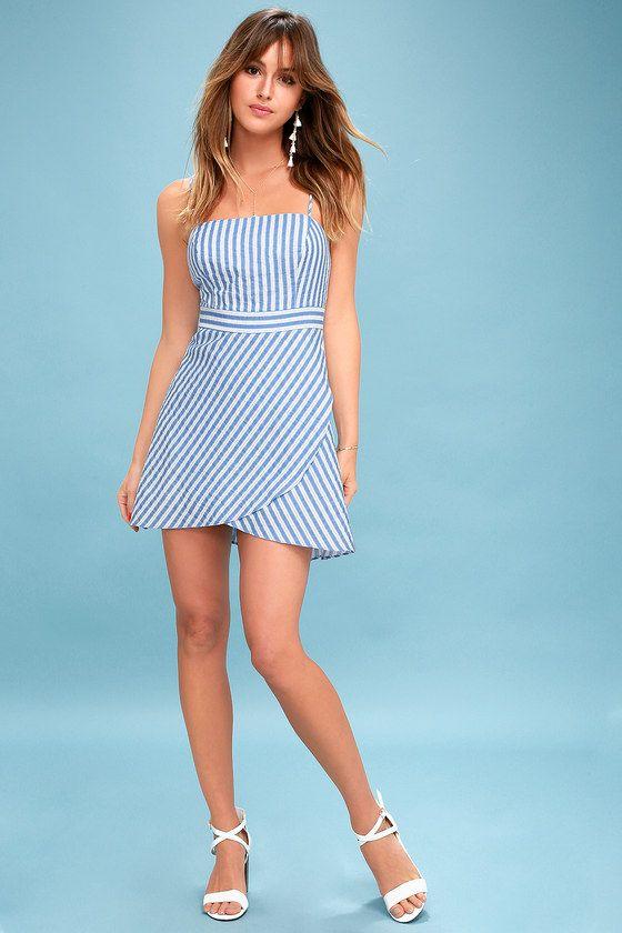 Central Park Blue and White Striped Dress 1 feb9954e0