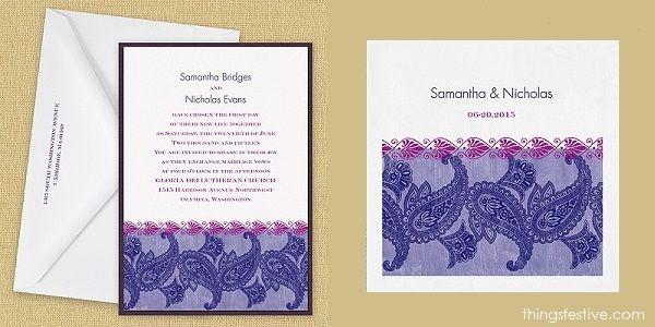 perfectly coordinated paisley wedding invitations & napkins #wedding #WeddingInvitations #WeddingNapkins #paisleywedding