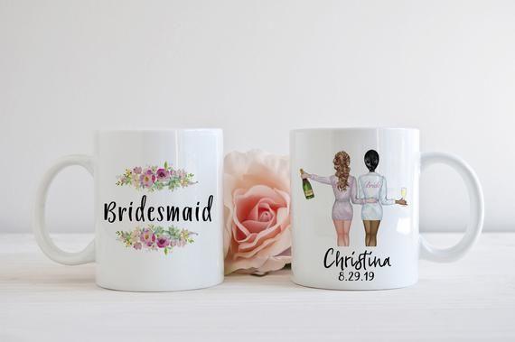 Bridesmaid Mug Wedding Party Gift Idea, Bride and Bridesmaid Proposal Personalized Coffee Cup