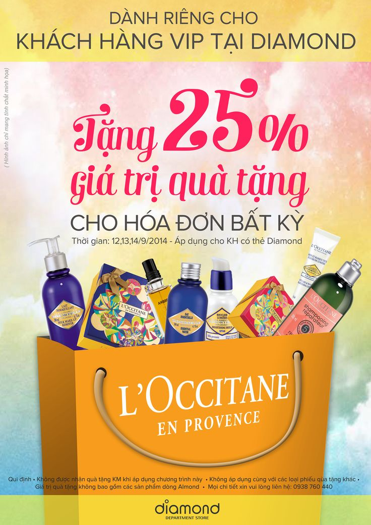 L ' Occitane Vietnam - Layout advertising ( at Diamond Plaza - 8/2014 ) - By: Da Thao Mon ( Mail : dathao.mon@gmail.com - facebook: Nguyễn Thảo Mon )