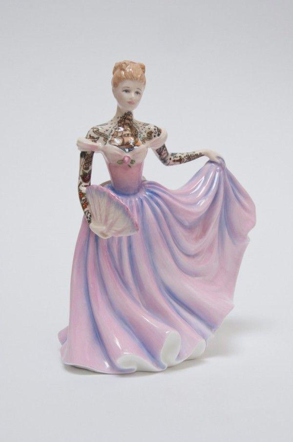 As+bonecas+de+porcelana+tatuadas+de+Jessica+Harrison+|+Tinta+na+Pele