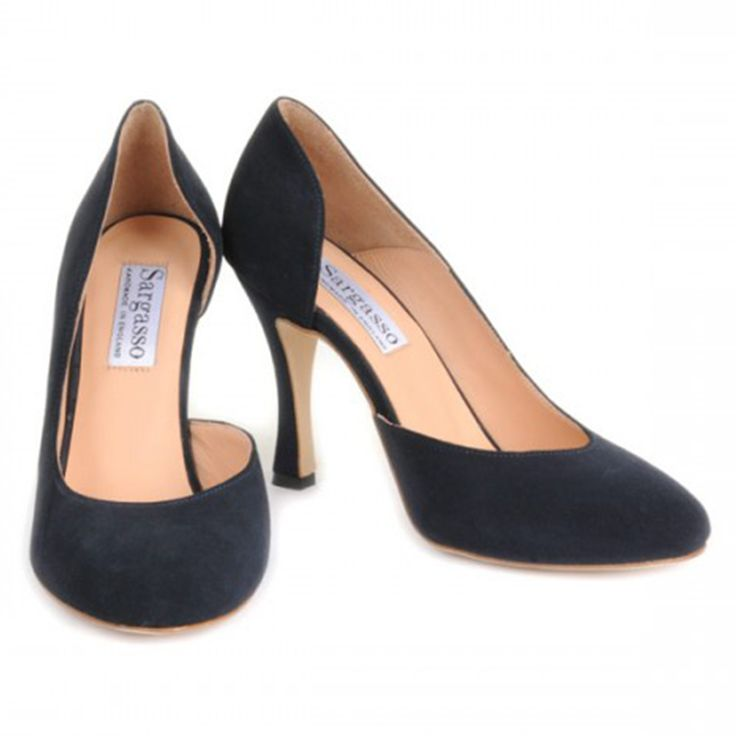 Navy court shoes