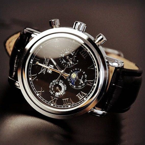 Image of Men's Watch / Antique Watch / Handmade Watch / Leather Watch / Automatic Mechanical Watch (WAT0102)