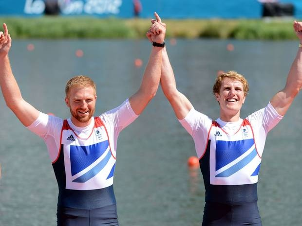George Nash and William Satch win Bronze for the men's pair rowing event on