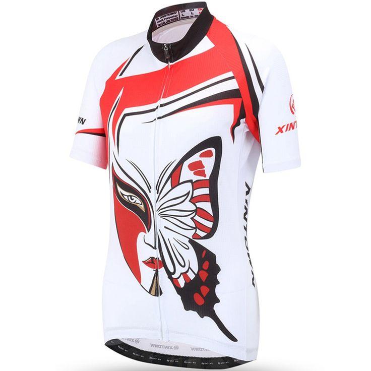 XINTOWN Cycling Jersey 2017 PRO Team Women MTB Bike Bicycle Motocross Butterfly Quick Dry Shirt Jerseys Clothing Gel Pad