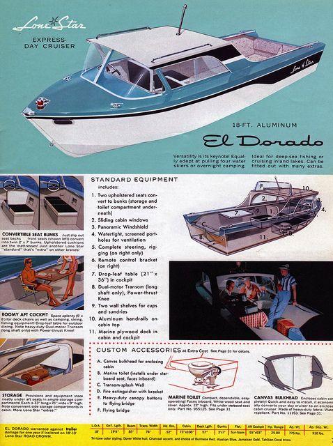 Lone Star El Dorado Aluminum Boat 1955 by babyfella2007, via Flickr