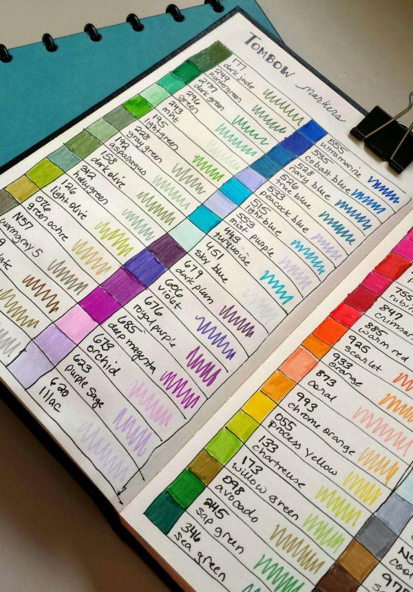tombow dual brush pen color chart