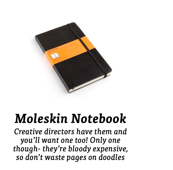 Moleskin notebook...
