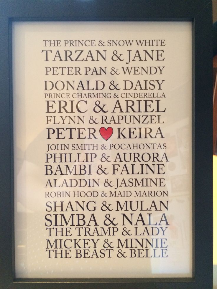Disney couples print