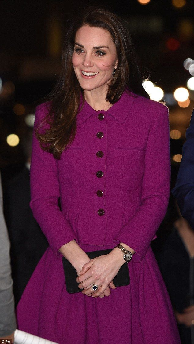 Important night: William and Kate met with members of the Guild of Health writers tonight ...