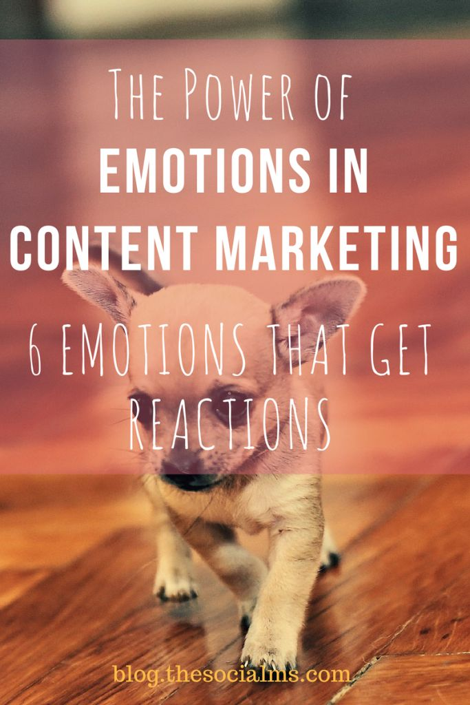 Here are the emotions in content marketing that inspire the most reactions in form of shares and even sales. Use them to get more out of your marketing! Content Marketing | Reactions on Content | Content Emotions | Marketing Power Emotions