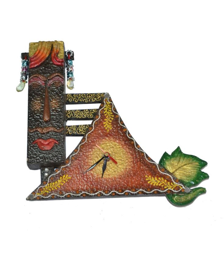 Buy Handmade #wallhanging watch for home and office from #craftshopsindia