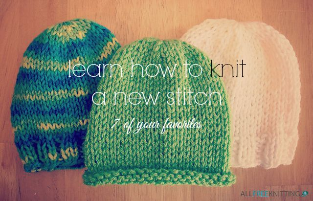 Knitting Garter Stitch Backwards : Learn how to knit a new stitch of your favorites back