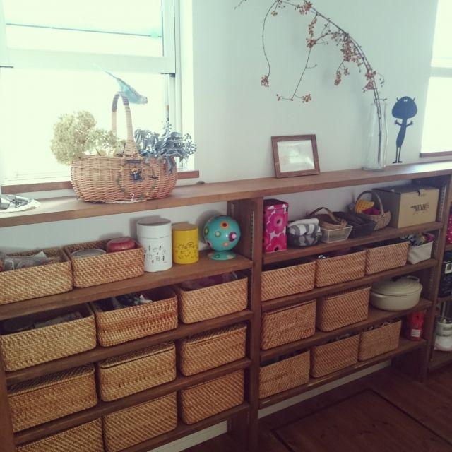 yusumiaさんの、キッチン裏側,ルクルーゼ ,marimekko,パントリー,重なるラタン長方形ボックスフタ付,重なるラタン長方形ボックス小,無印良品,キッチン,のお部屋写真