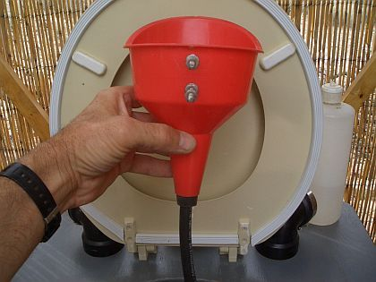 Small Airstream Trailer >> Barrel Composting Toilet System: Urine Diversion System ...