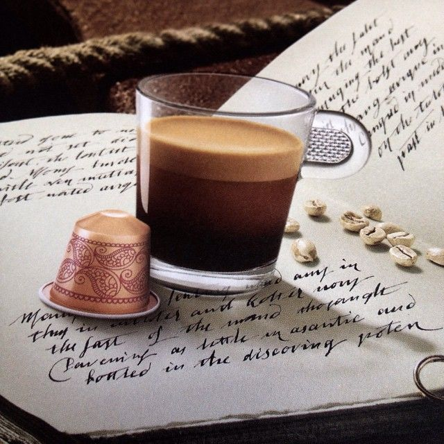Old calligraphy for Nespresso Monsoon Malabar
