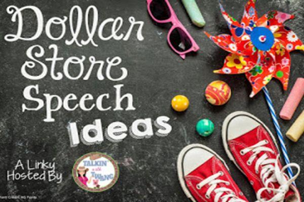 Dollar store speech therapy ideas!