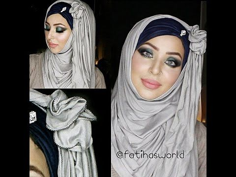 ▶ Hijab Tutorial: Simple to Pretty Ruffles Style  by fatihasWORLD - YouTube
