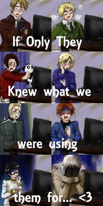 XD Hetalia characters seeing what we do with them...
