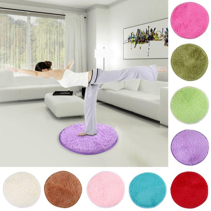 Approx 40cm*2cm Home Decor Bedroom Mat Door Floor Carpet Puzzle Mat Fluffy  Round Foam. Fluffy RugNon Slip Shower ...