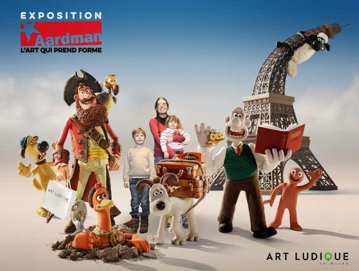 La Cité des Vents: Expo Aardman, musée Art Ludique, Paris